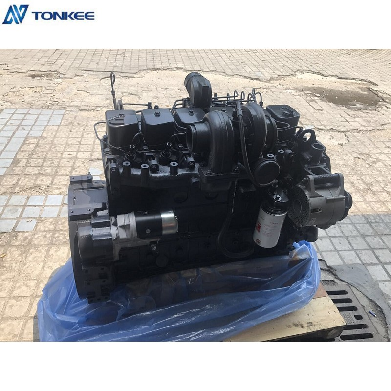 SAA6D102E-2 Diesel engine assy China made New 6BT5.9 Complete Engine assy  For KOMATSU PC200-7 Hydraulic excavator