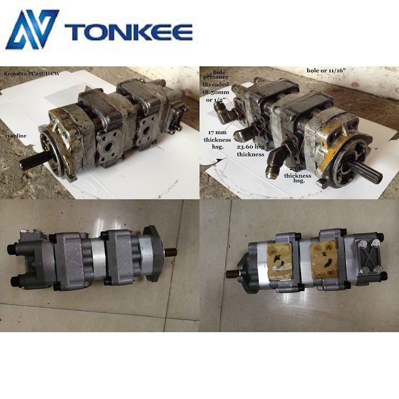 Good quality Komatsu PC25UU gear pump PC25 Hydraulic pump for sale