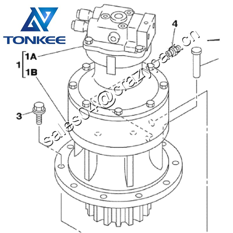 CX130 169326A1 SWING MOTOR ASSY