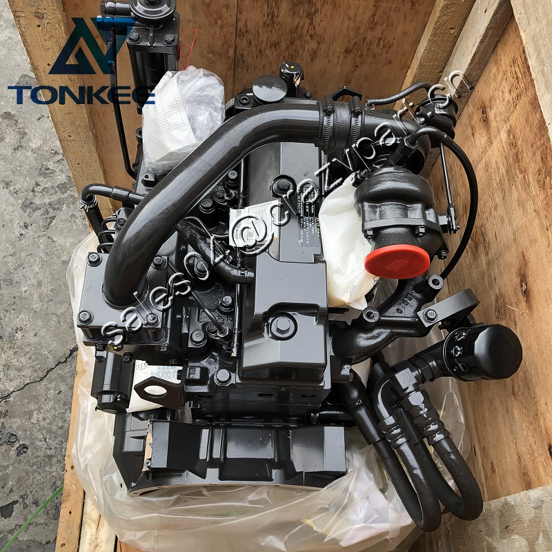 B3.3 ESN C complete diesel engine assy 4BT3.3 Turbo 80HP 60KW excavator whole diesel engine assembly