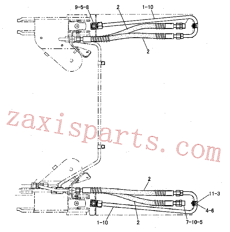 CAT 148-8347 for W345C MH Wheeled Excavator(WHEX) hydraulic system 220-0897 Assembly