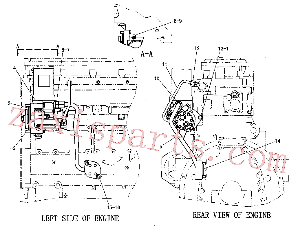 CAT 153-4906 for D11R Track Type Tractor(TTT) fuel system 205-4161 Assembly