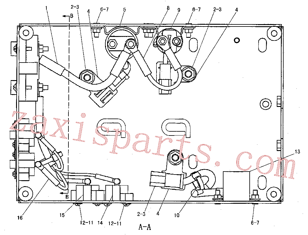 CAT 9R-2821 for AP655F L Asphalt Paver(AP) electrical and starting system 190-5098 Assembly