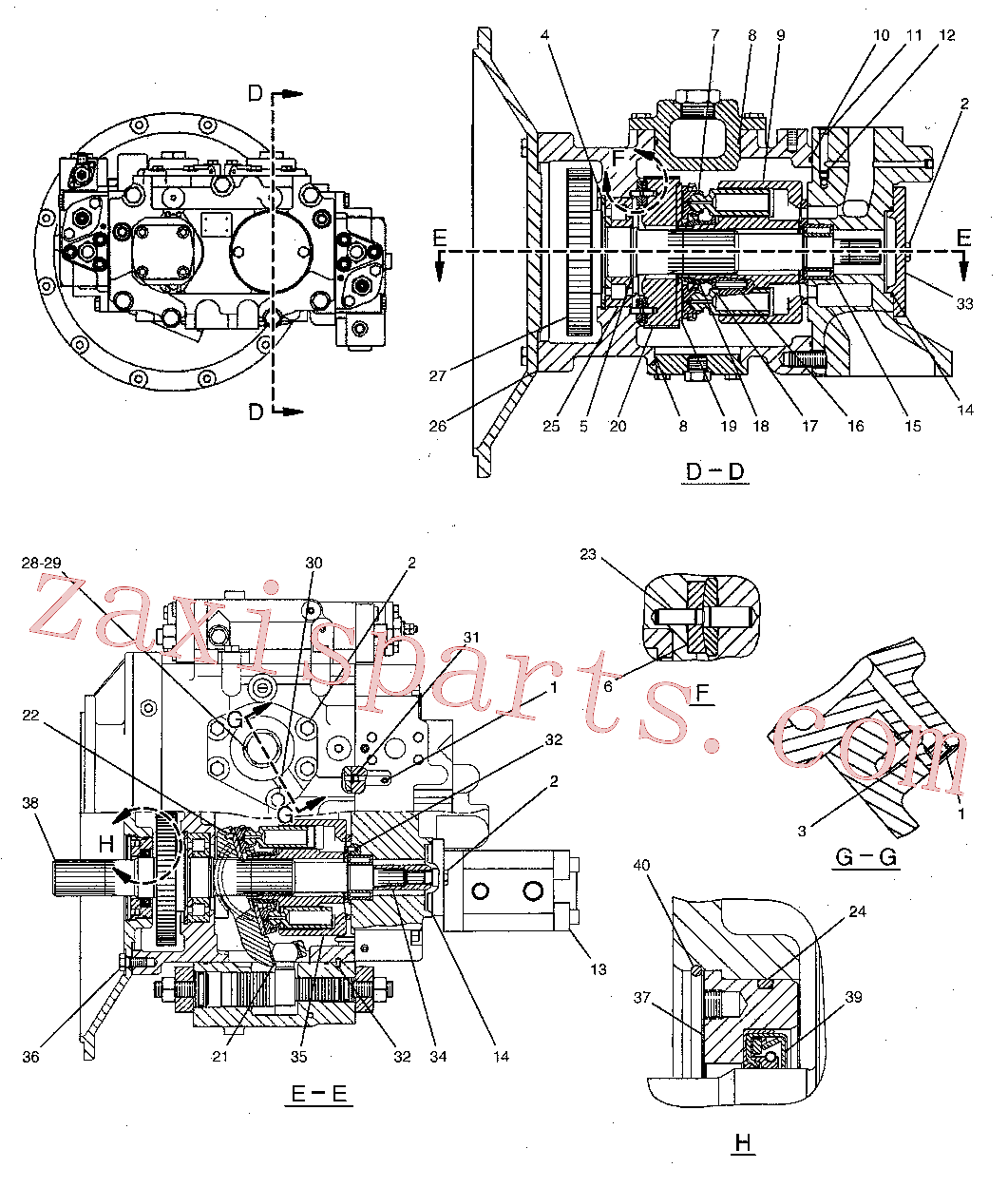 CAT 9T-0836 for 323D L Excavator(EXC) hydraulic system 244-8477 Assembly