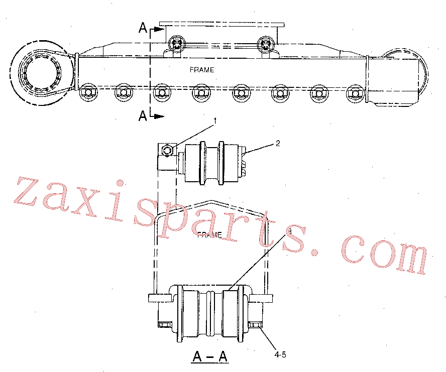 CAT 8T-5878 for 312B L Excavator(EXC) frame and body 7Y-1608 Assembly