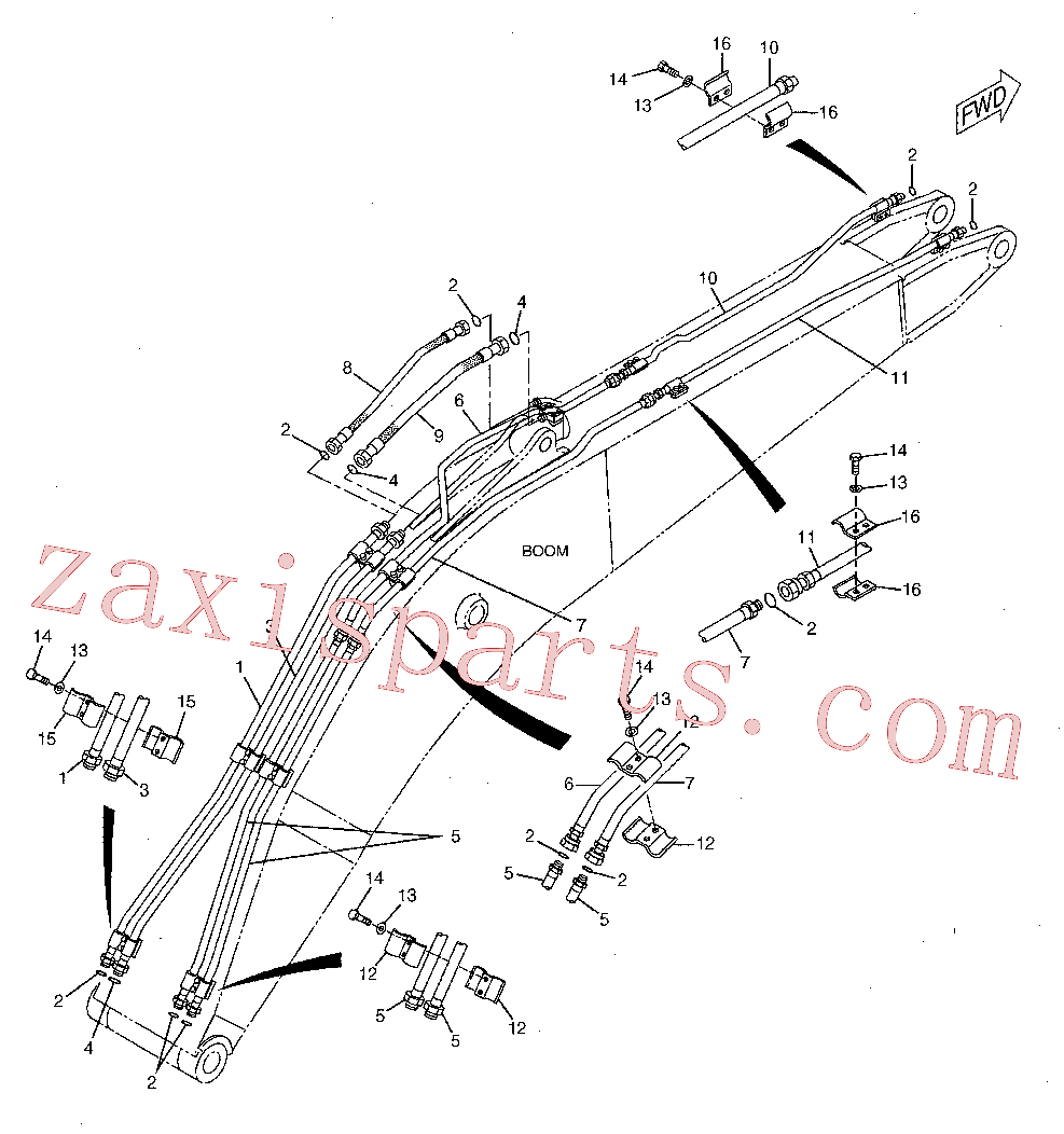 CAT 184-9254 for 323D SA Excavator(EXC) hydraulic system 142-7759 Assembly
