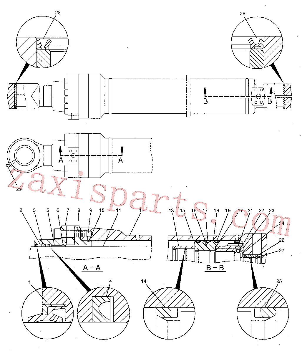 CAT 4I-3631 for 329E L Excavator(EXC) hydraulic system 204-3615 Assembly