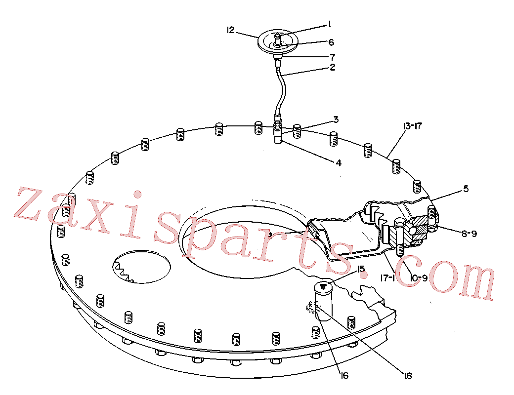 CAT 8K-4127 for 225 Excavator(EXC) chassis and undercarriage 3V-1463 Assembly
