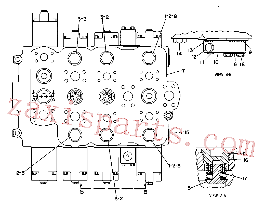 CAT 9T-0121 for 235B Excavator(EXC) hydraulic system 9T-0162 Assembly