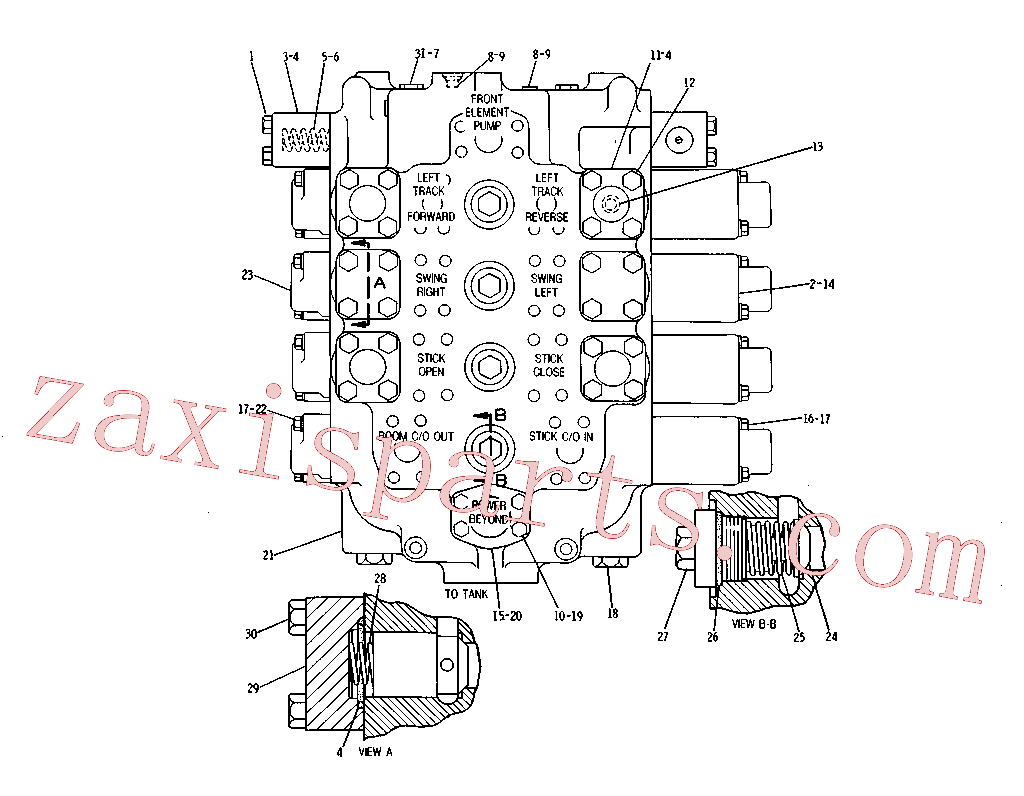 CAT 9T-0121 for 235B Excavator(EXC) hydraulic system 3G-8125 Assembly