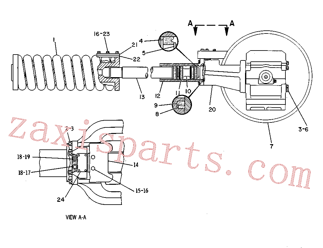CAT 8T-4835 for D4B Track Type Tractor(TTT) frame and body 8V-2391 Assembly