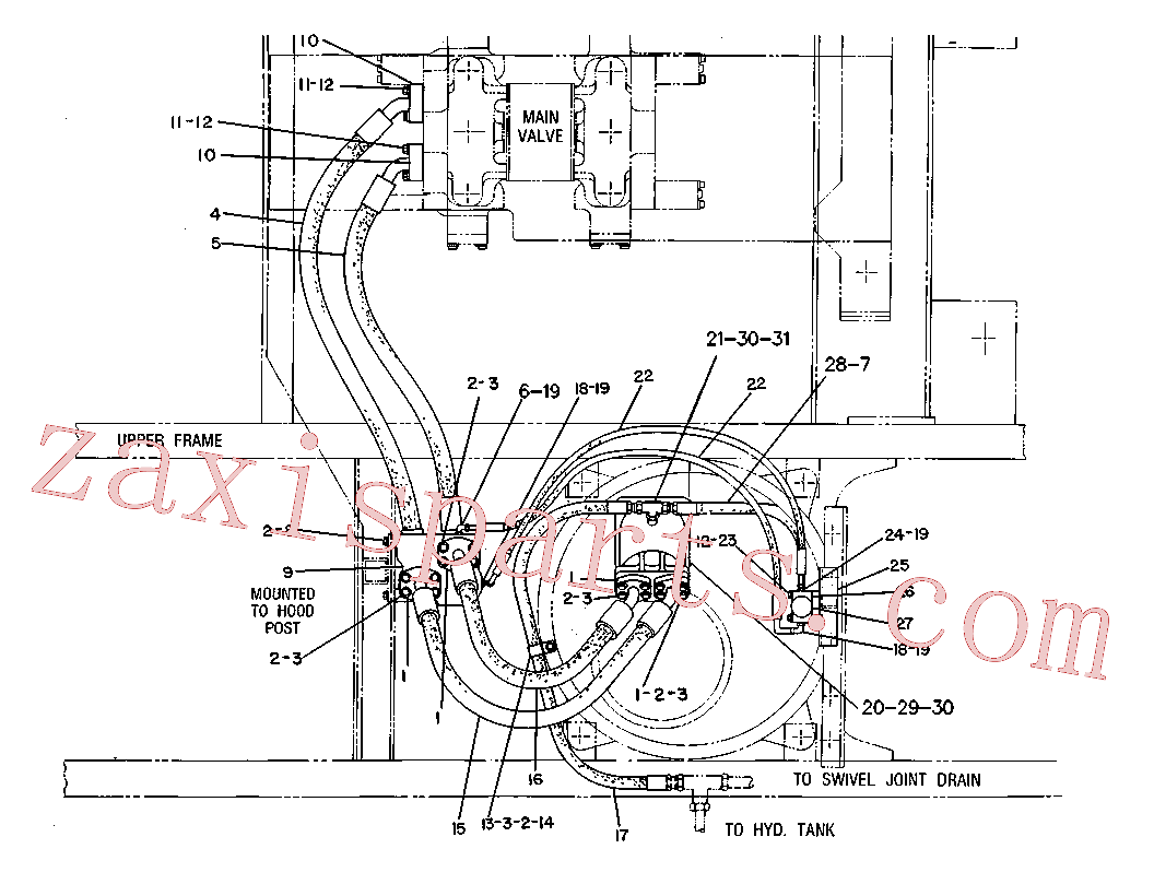 CAT 9T-2918 for 215B Excavator(EXC) hydraulic system 6W-1343 Assembly