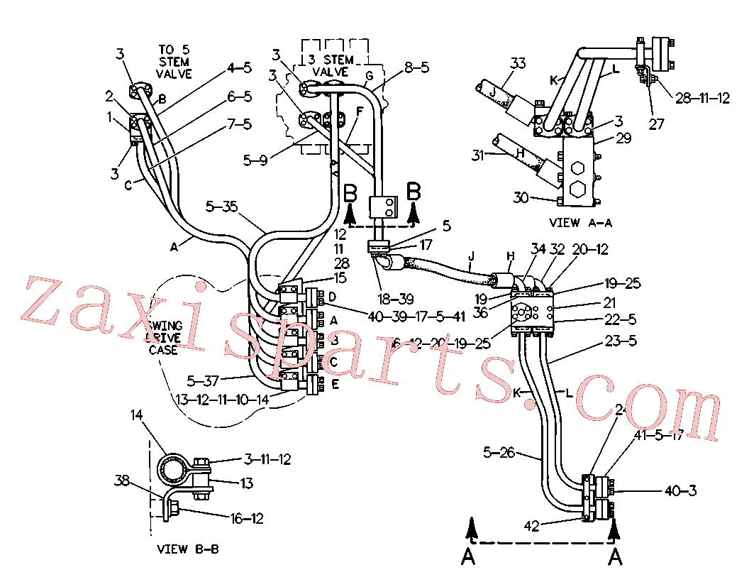 CAT 7X-0318 for 325-A LN Excavator(EXC) hydraulic system 4V-9396 Assembly
