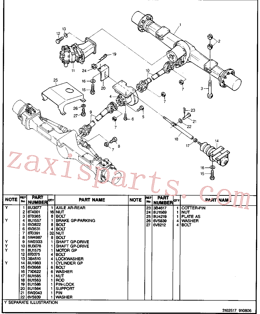 CAT 8U-1361 for 214B FT Excavator(EXC) chassis & undercarriage 8U-3057 Assembly