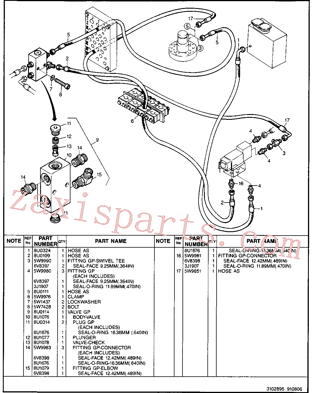 CAT 5W-4981 for 224B Excavator(EXC) hydraulic system 5W-9796 Assembly