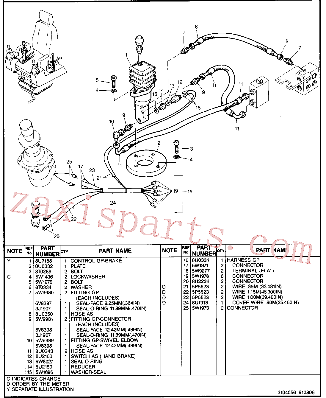 CAT 8U-3838 for 214B FT Excavator(EXC) hydraulic system 5W-9803 Assembly