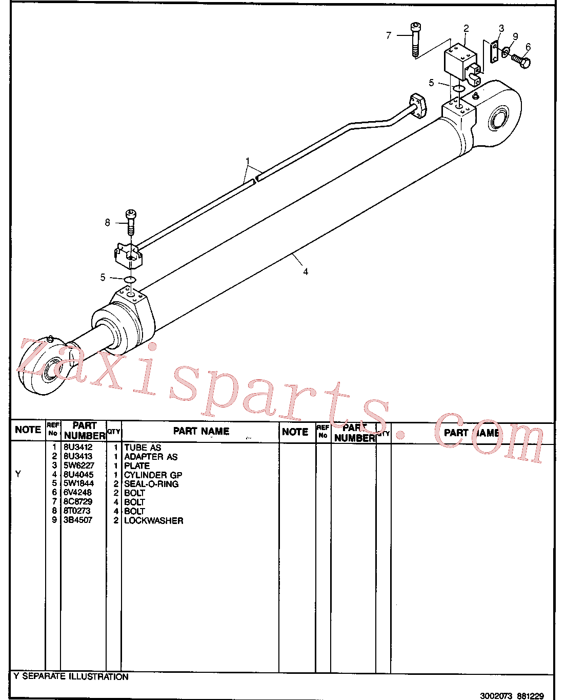 CAT 8U-4067 for 224B Excavator(EXC) hydraulic system 8U-3227 Assembly
