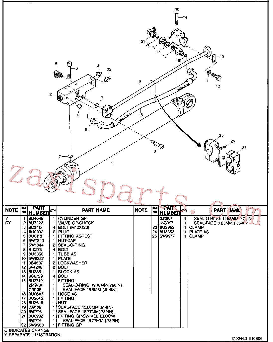 CAT 8U-4067 for 224B Excavator(EXC) hydraulic system 8U-3347 Assembly