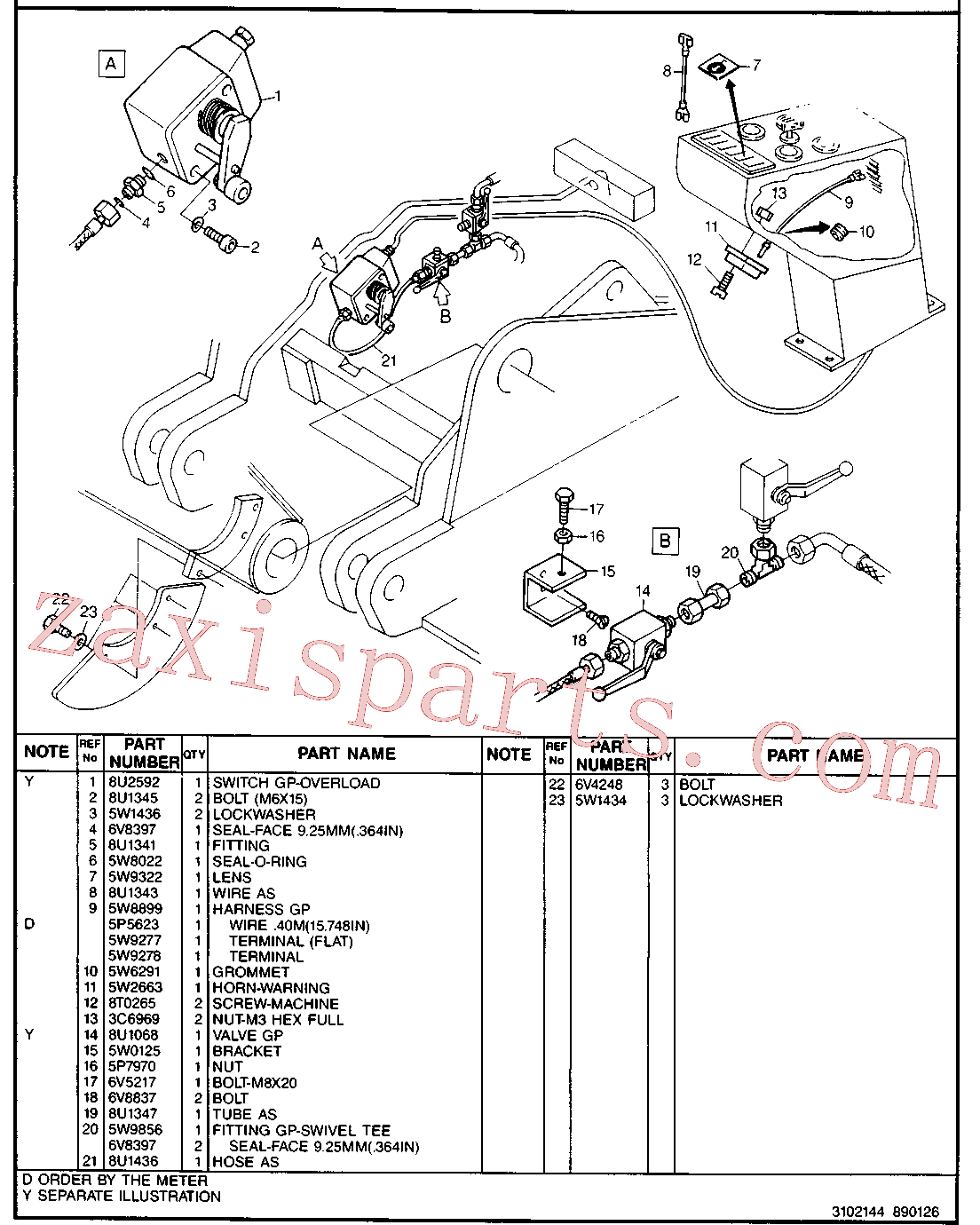 CAT 8U-1436 for 214B Excavator(EXC) hydraulic system 8U-1346 Assembly