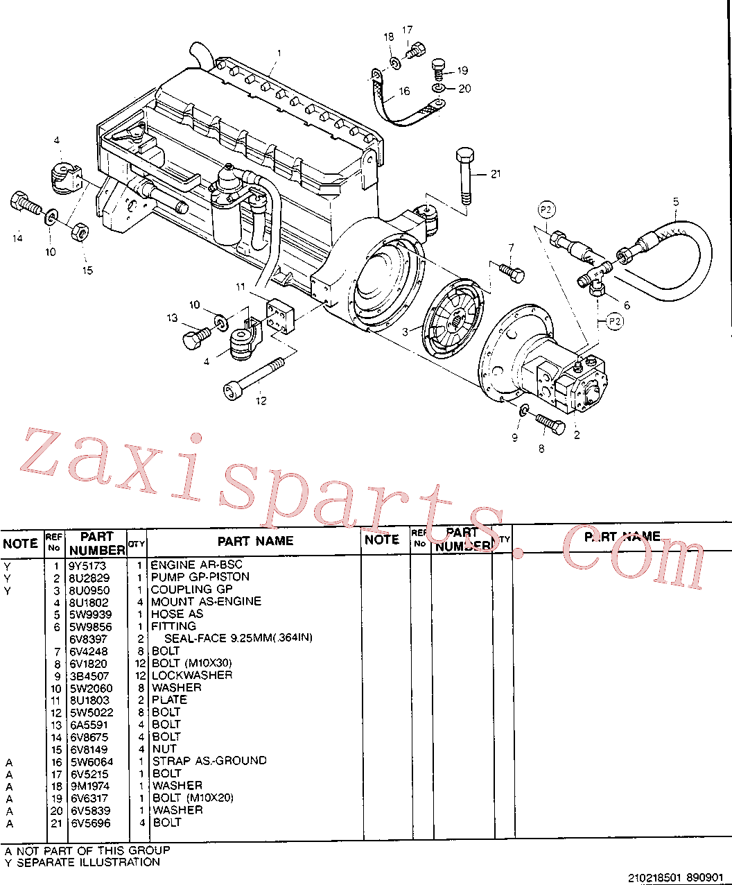 CAT 5W-1753 for 224B Excavator(EXC) engine installation 8U-2709 Assembly