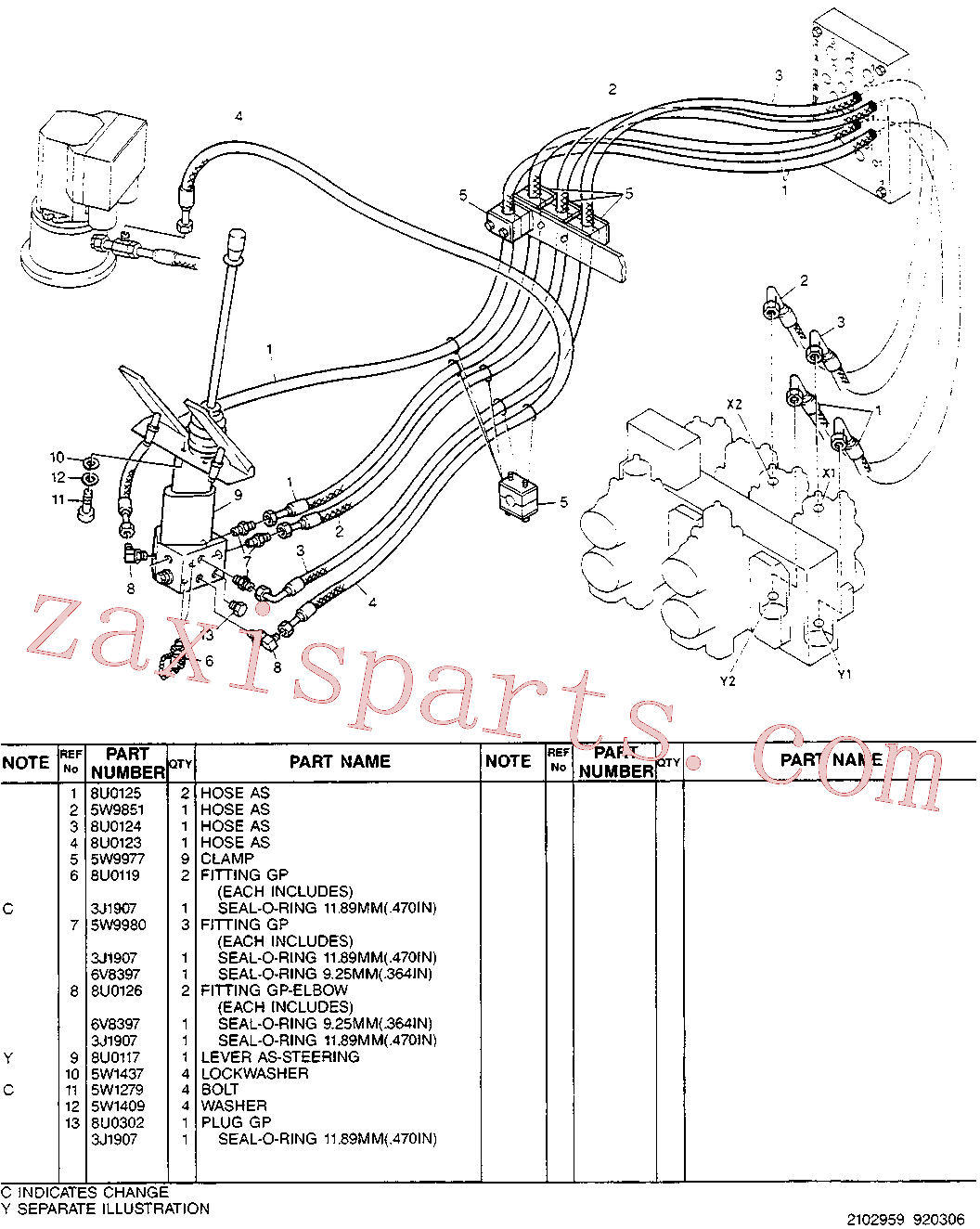 CAT 5W-4981 for 214B Excavator(EXC) hydraulic system 5W-9815 Assembly