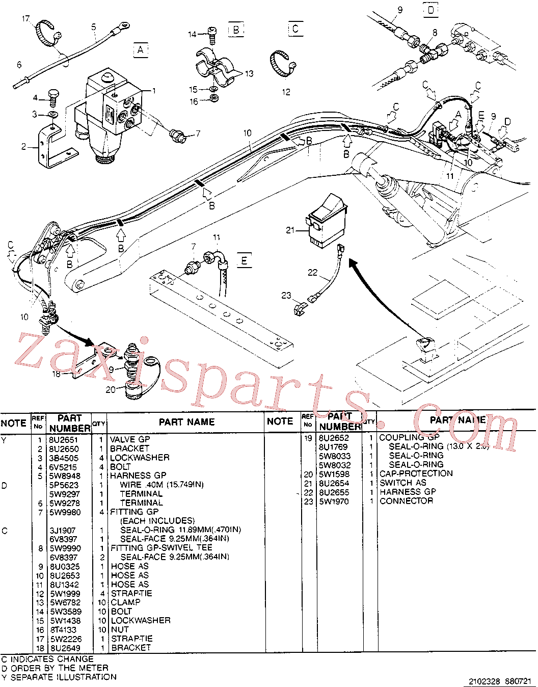 CAT 5W-6782 for 214B FT Excavator(EXC) hydraulic system 8U-2648 Assembly