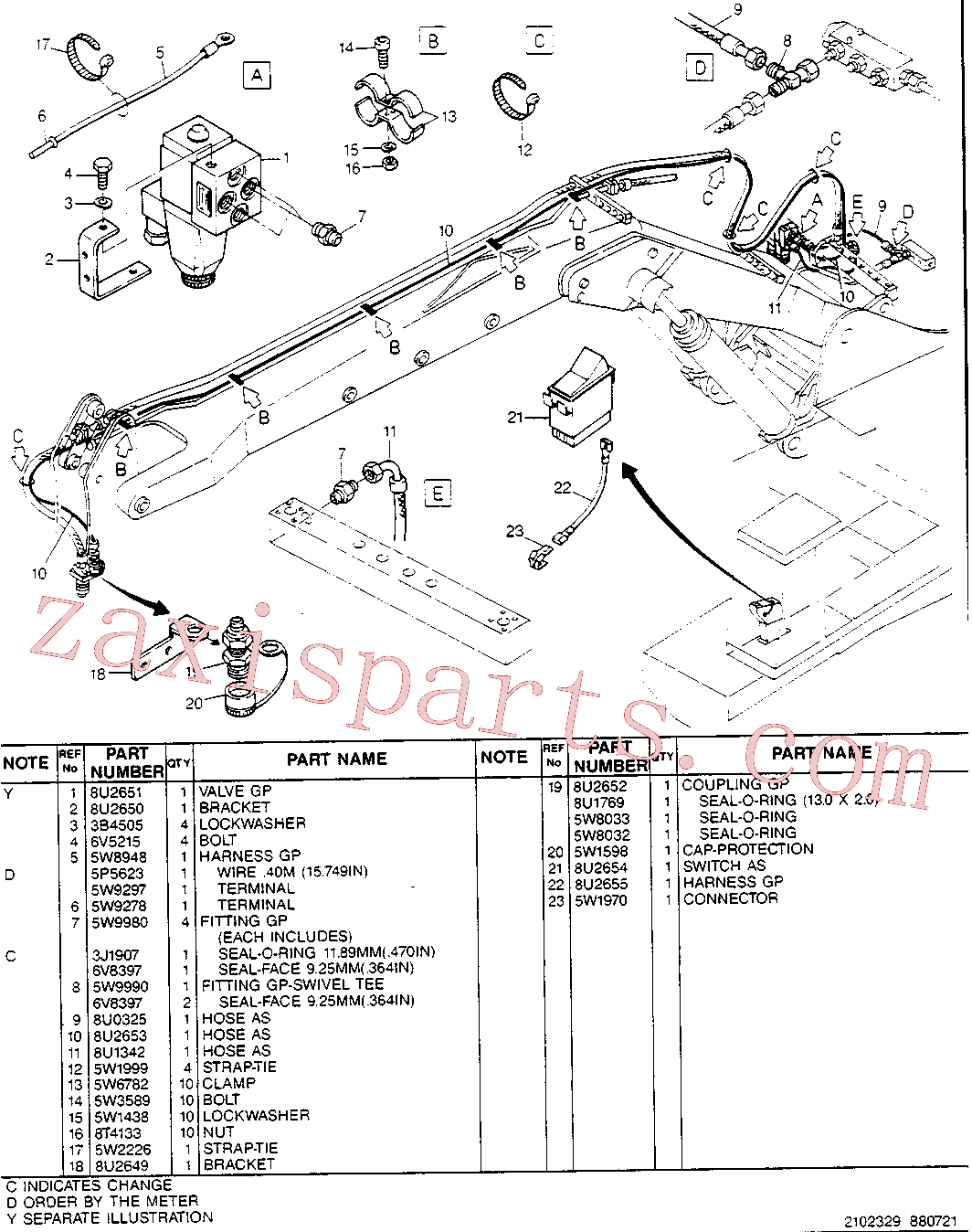 CAT 5W-6782 for 214B FT Excavator(EXC) hydraulic system 8U-2656 Assembly