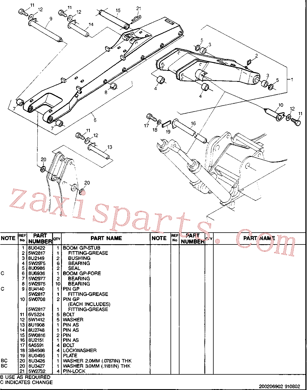 CAT 5W-6782 for 213B Excavator(EXC) boom, sticks, linkage & buckets 8U-2749 Assembly