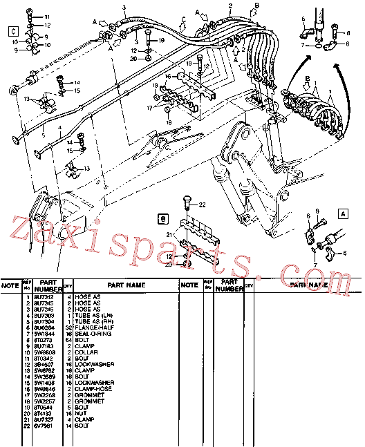 CAT 5W-6782 for 214B Excavator(EXC) hydraulic system 8U-7832 Assembly