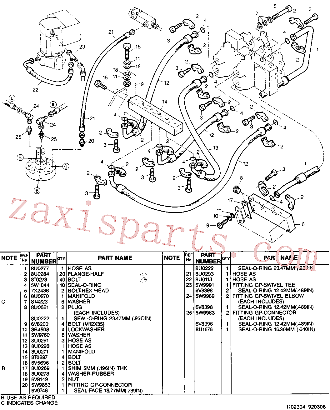 CAT 8U-1939 for 213B Excavator(EXC) hydraulic system 5W-9801 Assembly