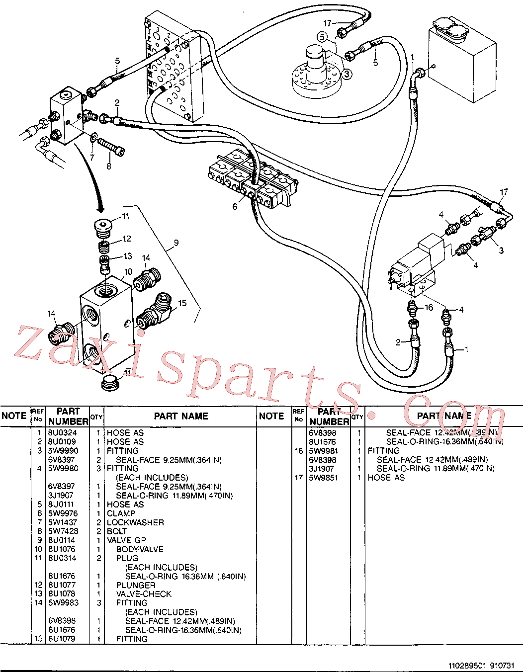 CAT 5W-4981 for 213B Excavator(EXC) hydraulic system 8U-4338 Assembly