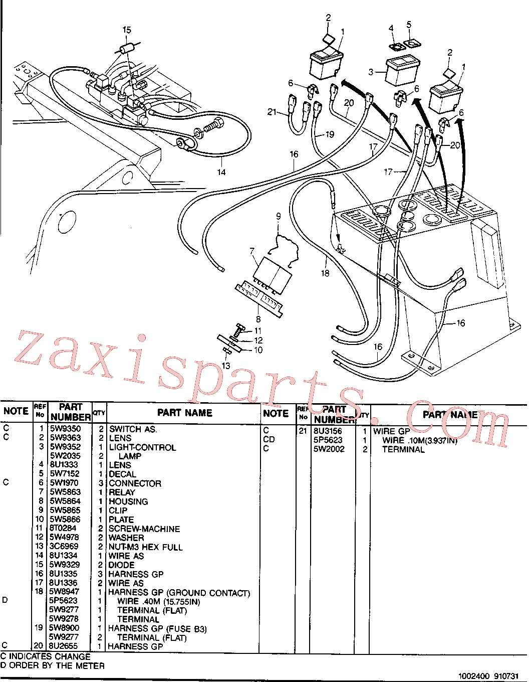 CAT 8U-1333 for 214B FT Excavator(EXC) hydraulic system 8U-1325 Assembly