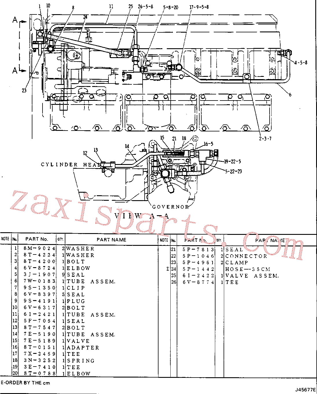 CAT 8T-0151 for EL240C Excavator(EXC) fuel system and governor 6I-2420 Assembly