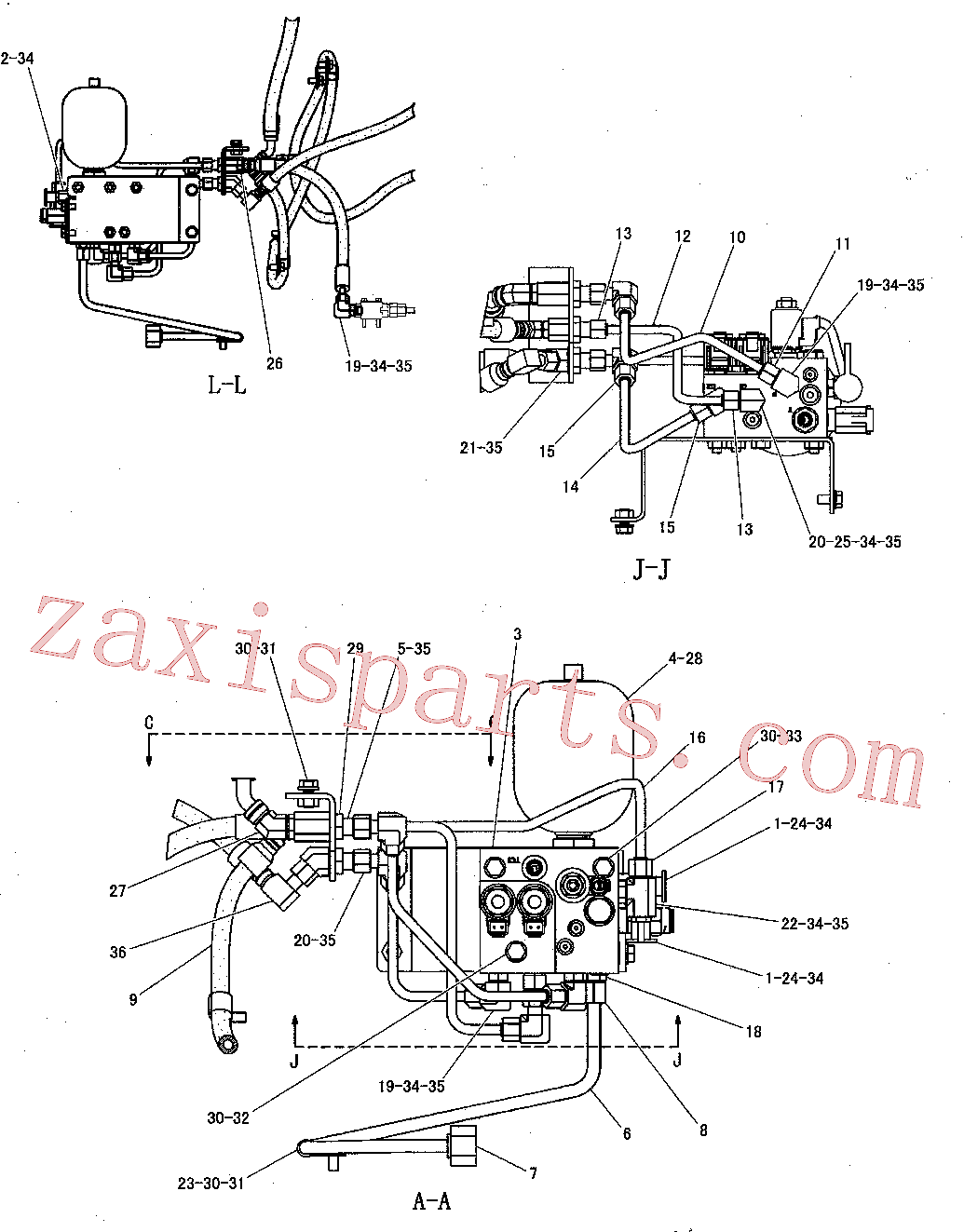 CAT 8T-9358 for 988H Wheel Loader(WTL) power train 260-8836 Assembly