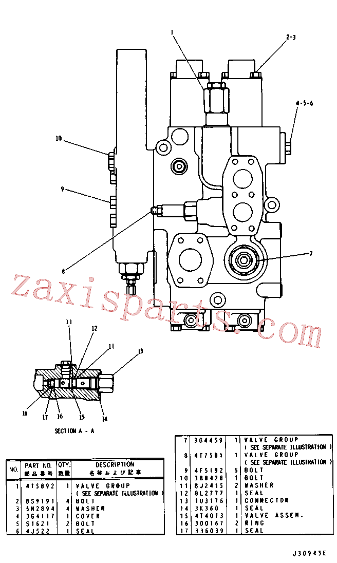 CAT 4T-9312 for 950B Wheel Loader(WTL) hydraulic system 4T-7004 Assembly
