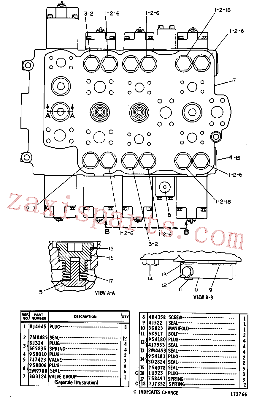 CAT 3G-3450 for 229 Excavator(EXC) hydraulic system 3G-3125 Assembly