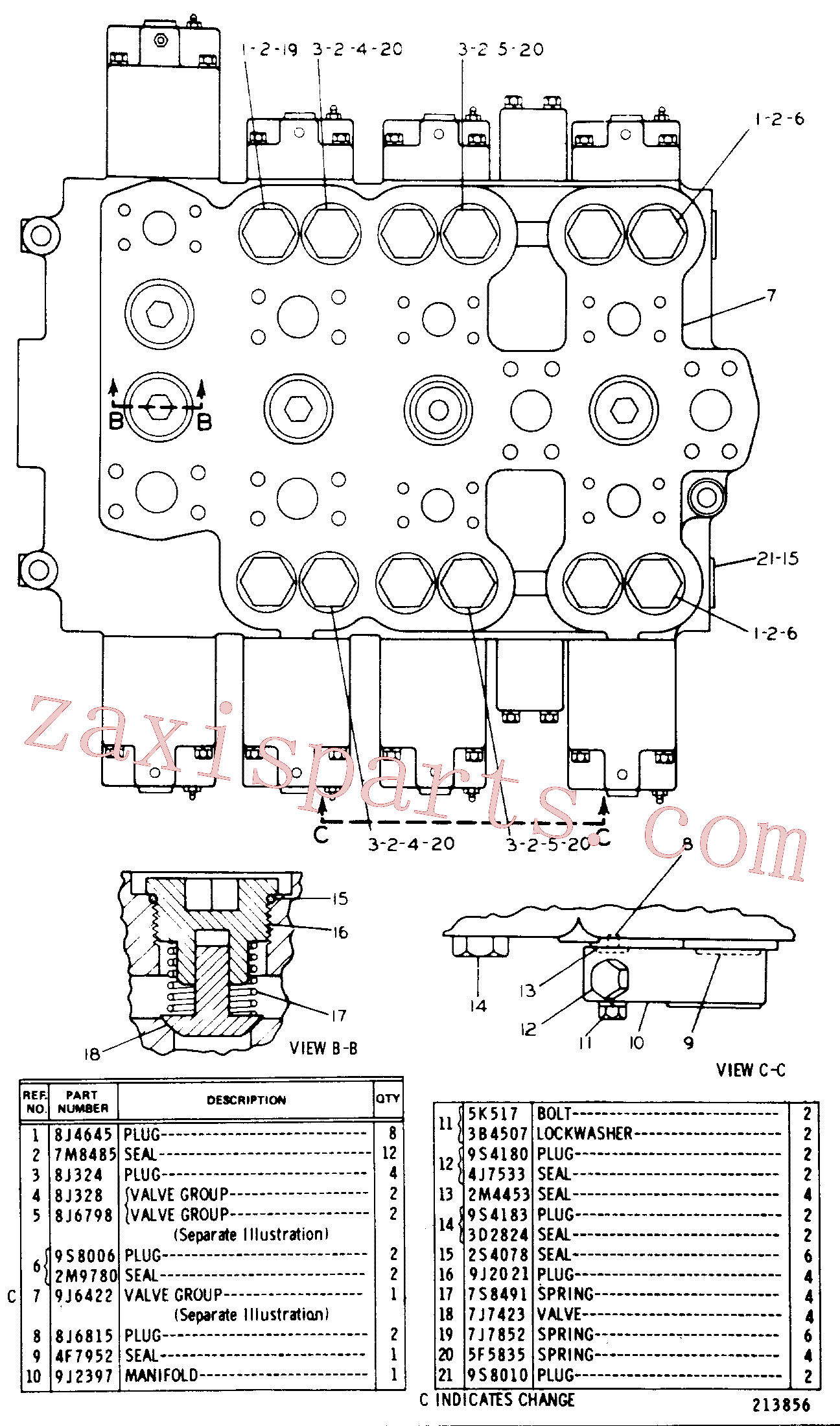 CAT 9T-0121 for 235B Excavator(EXC) hydraulic system 8J-8477 Assembly
