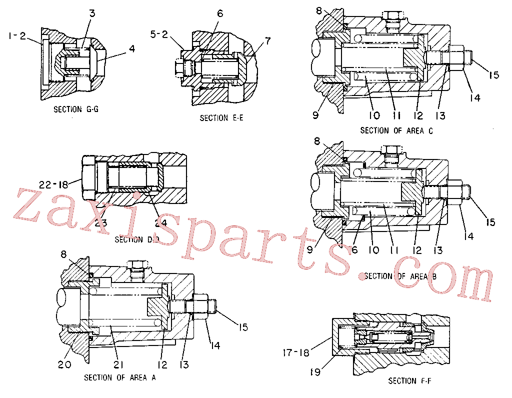 CAT 8T-1838 for 225B Excavator(EXC) hydraulic system 9T-2287 Assembly
