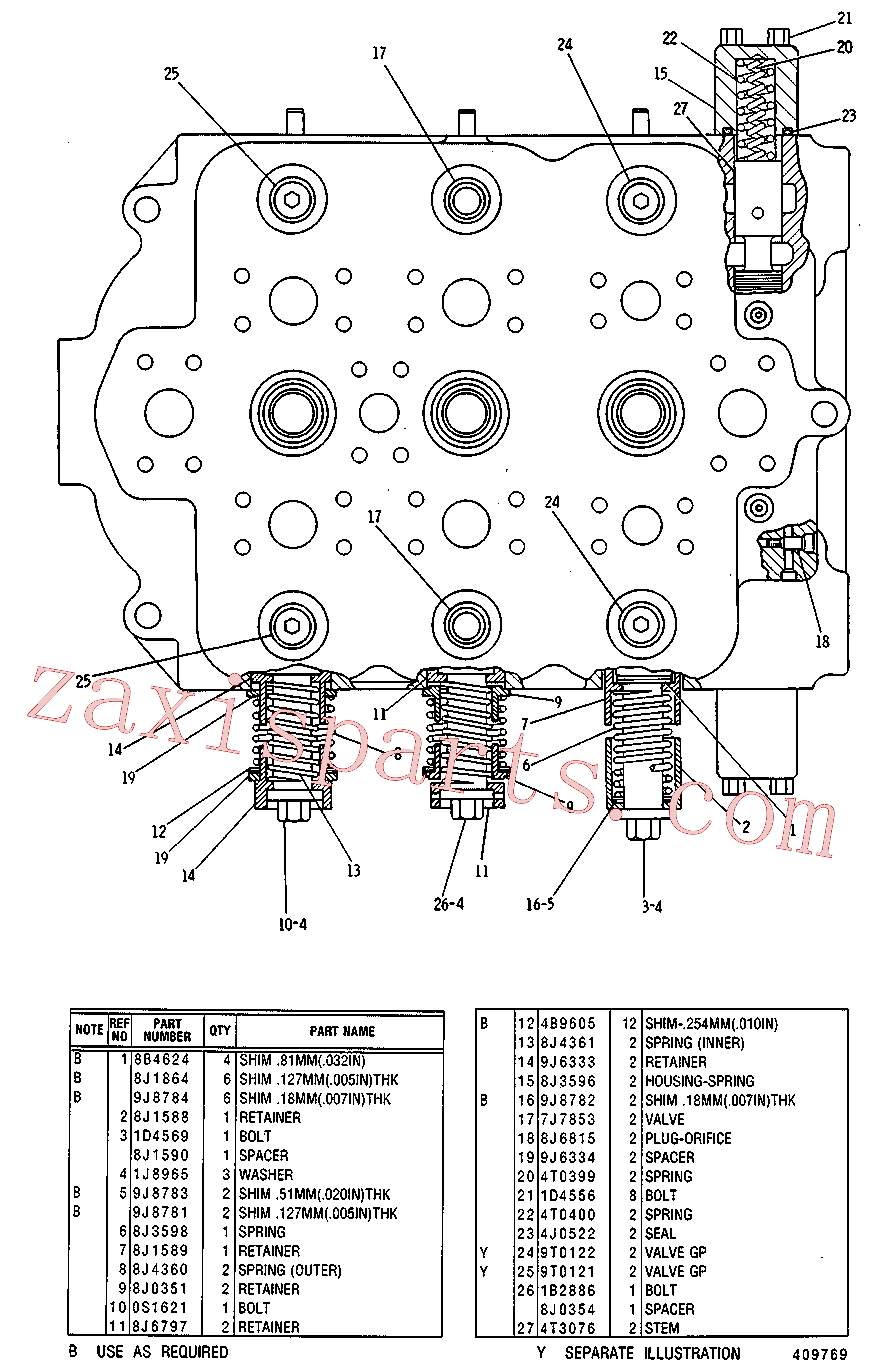 CAT 3G-3450 for 229 Excavator(EXC) hydraulic system 3G-5819 Assembly