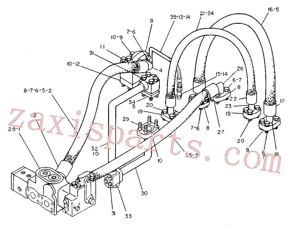 CAT 8K-3992 for 225 Excavator(EXC) hydraulic system 5V-7221 Assembly