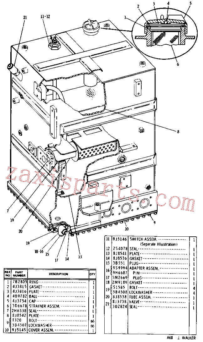 CAT 8J-8540 for 235C Excavator(EXC) hydraulic system 9J-5141 Assembly