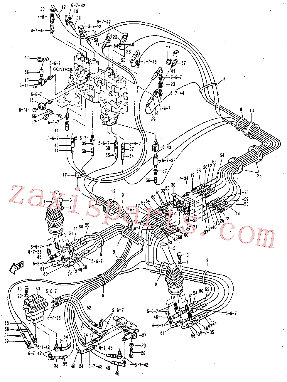 CAT 113-6885 for 325B L Excavator(EXC) hydraulic system 119-2390 Assembly