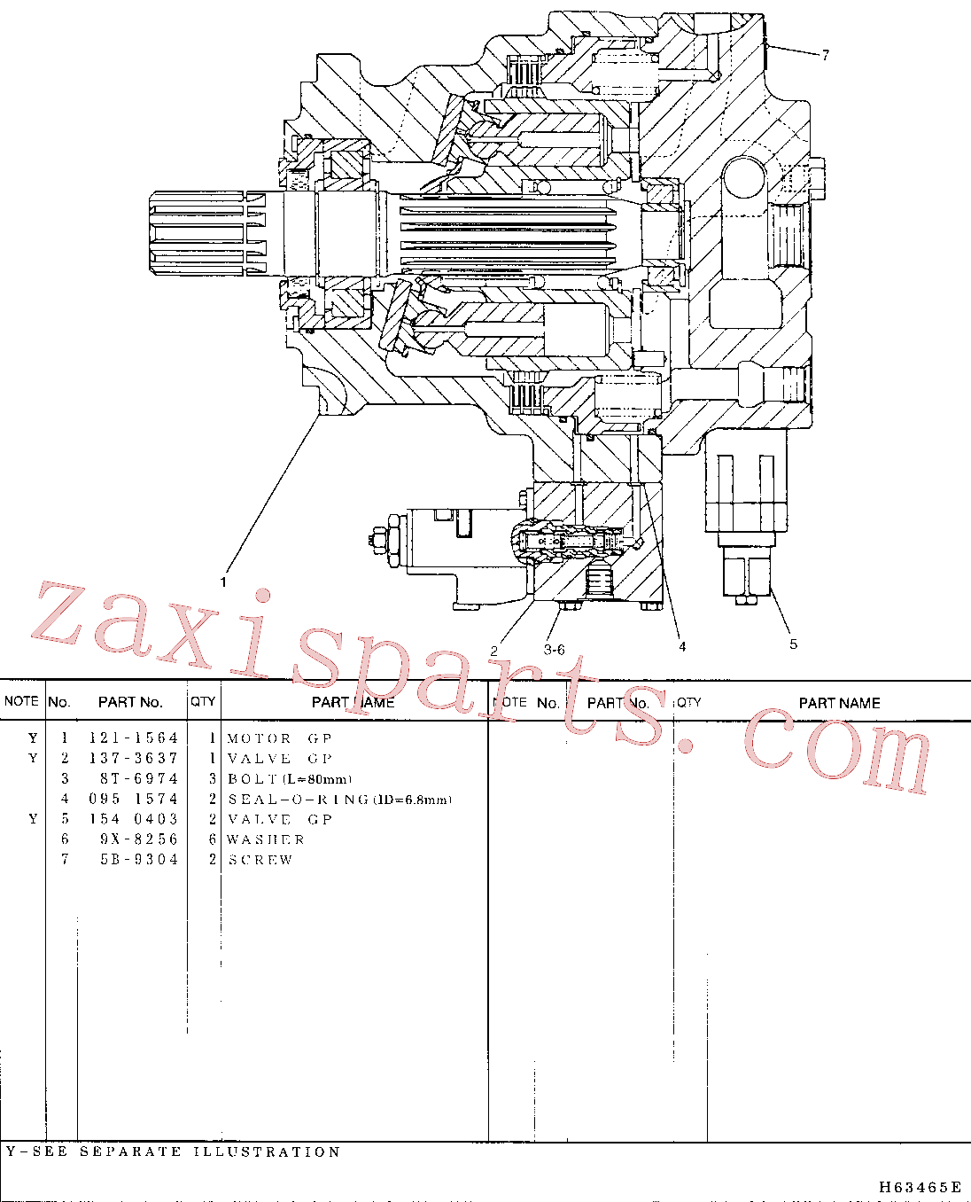 CAT 095-1595 for 321C Excavator(EXC) hydraulic system 107-7054 Assembly