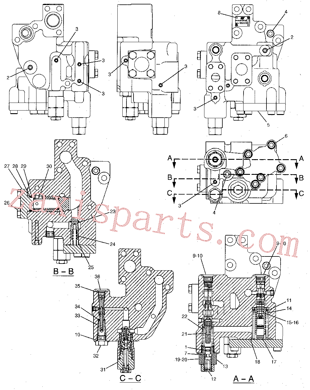 CAT 8T-2637 for D8N Track Type Tractor(TTT) hydraulic system 171-3266 Assembly