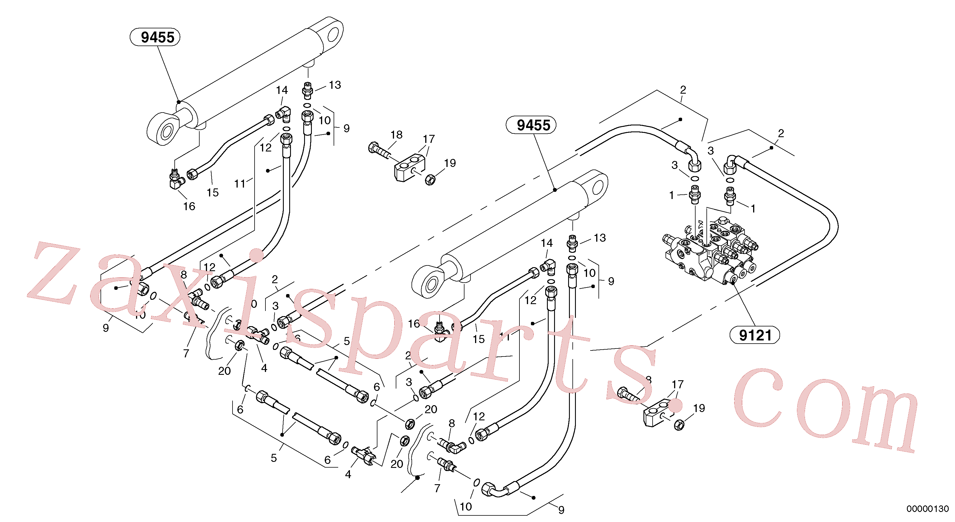 VOE944260 for Volvo Hydraulic lines - lift hydraulic(00000130 assembly)