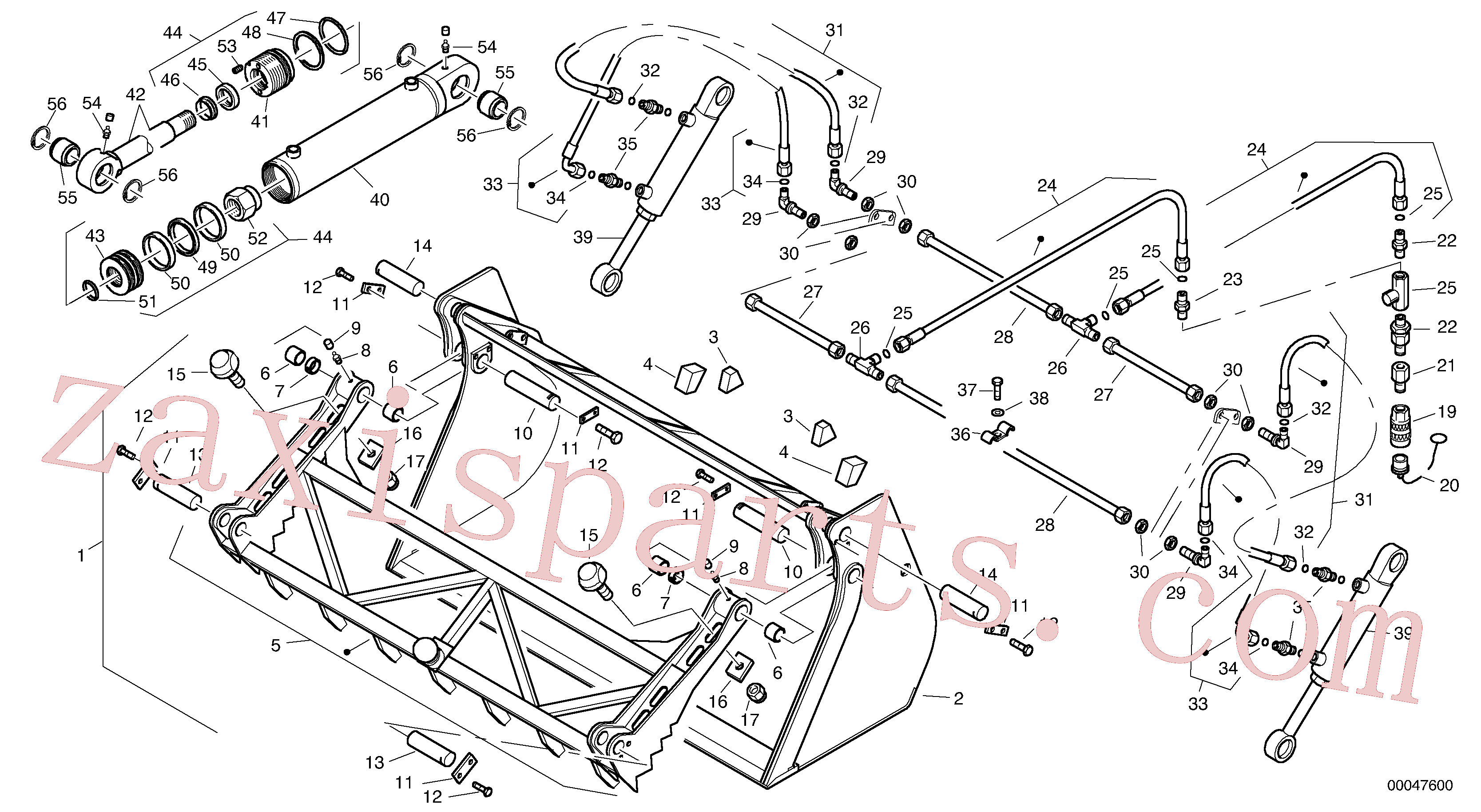 VOE11305362 for Volvo Grab bucket - TPV(00047600 assembly)