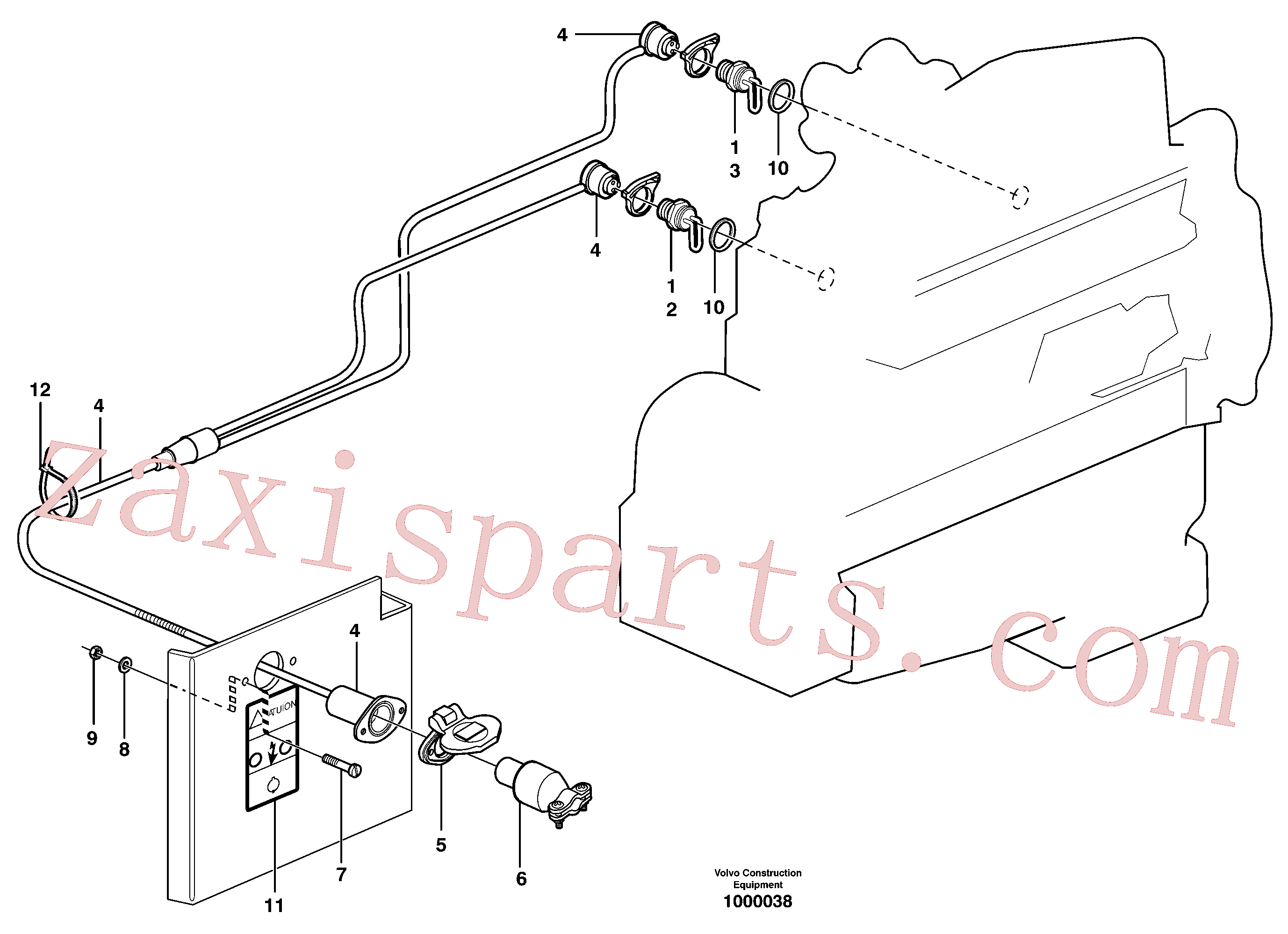ZM7098754 for Volvo Engine heater.(1000038 assembly)
