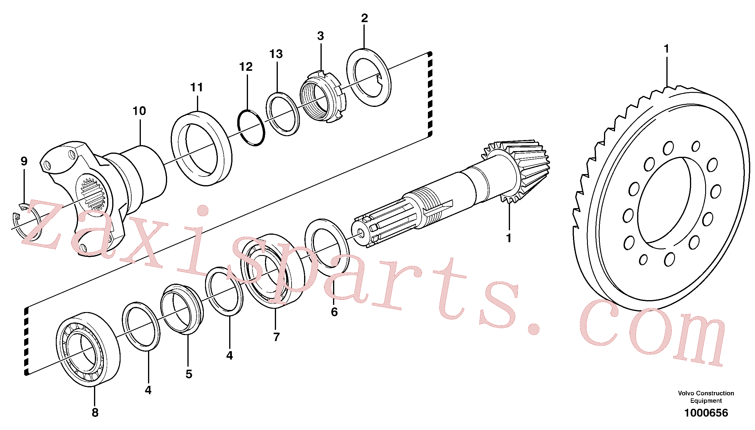 VOE11709294 for Volvo Pinion(1000656 assembly)