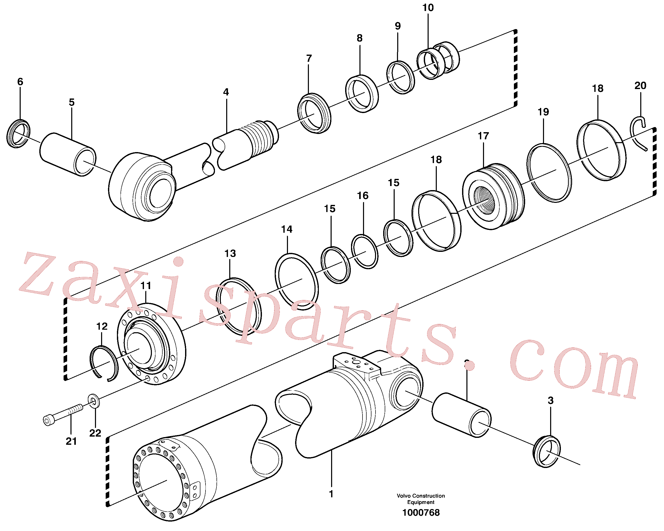 VOE966851 for Volvo Hydraulic cylinder, tilting(1000768 assembly)