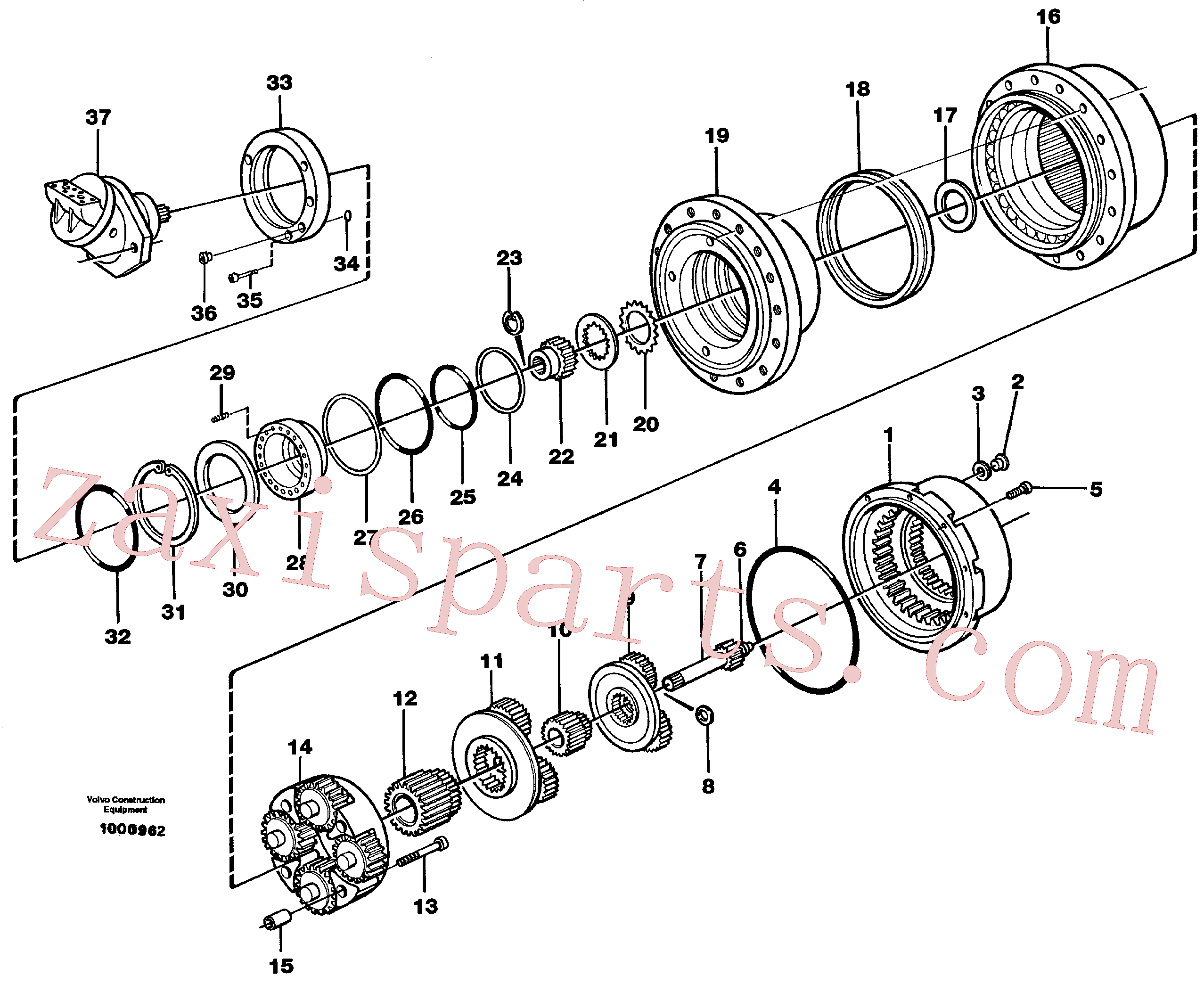 VOE11701204 for Volvo Planetary gear, travel(1000962 assembly)